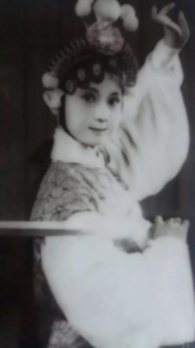 安徽省黄梅戏剧院原小梅花剧团团长刘卫丽小时候的剧照